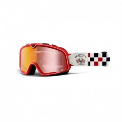brýle Barstow OSFA2, 100% - USA (červené chrom plexi)