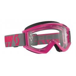 brýle RECOIL XI WORKS, SCOTT - USA (růžové, čiré plexi s čepy pro slídy)