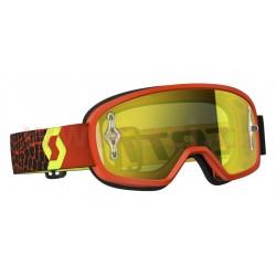 brýle BUZZ MX, SCOTT - USA, dětské (černé/fluo žluté, žluté plexi s čepy na slídy)