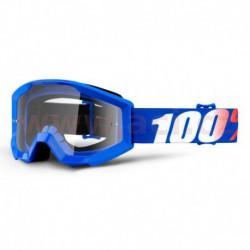 brýle Strata Nation, 100% - USA dětské (čiré plexi s čepy pro slídy)