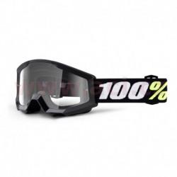 brýle Strata Mini Gron Black, 100% - USA dětské (čiré plexi s čepy pro slídy)