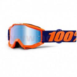 brýle Accuri Origami, 100% - USA dětské (modré chrom plexi s čepy pro slídy)