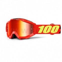 brýle Accuri Saarinen, 100% - USA dětské (červené chrom plexi s čepy pro slídy)