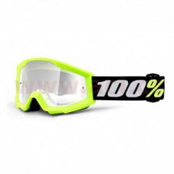 brýle Strata MINI, 100% - USA dětské (žlutá, čiré plexi s čepy pro slídy)