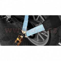 popruh pro uchycení přední nebo zadní moto pneu při transportu