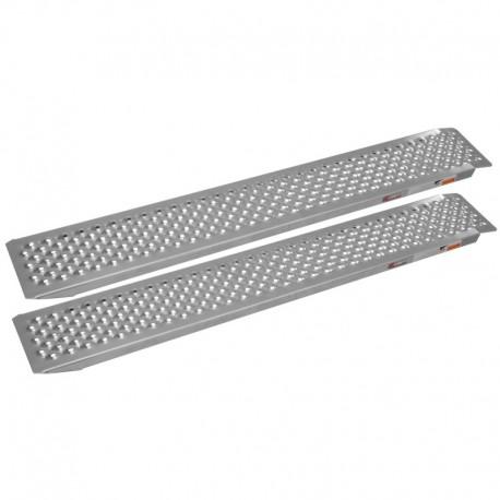 nájezdová rampa hliníková rovná, QTECH (1 pár, stříbrná)
