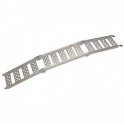 nájezdová rampa skládací hliníková třídílná, QTECH (1 ks, stříbrná)