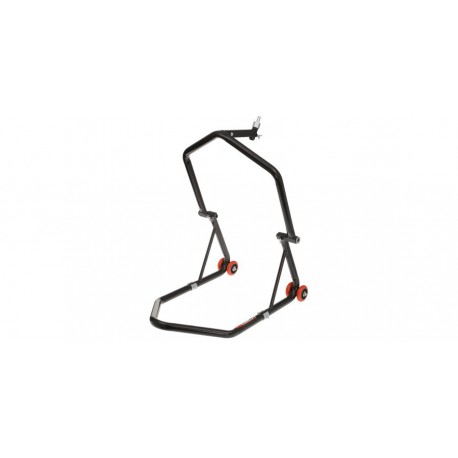 stojan na motocykl přední (do brýlí) zadní, QTECH (černý)