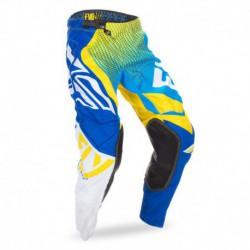 kalhoty EVO, FLY RACING - USA (modrá/žlutá/bílá)
