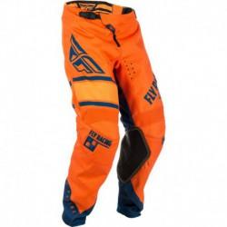 kalhoty KINETIC ERA 2018, FLY RACING - USA (oranžová/modrá navy)