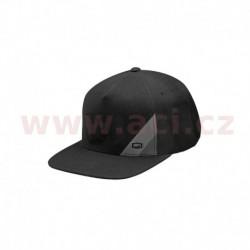 kšiltovka Waxed Snapback, 100% - USA (černá)