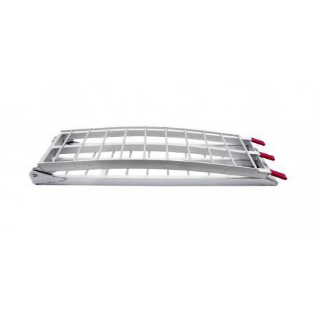 nájezdová rampa MX hliníková skládací široká, QTECH (1 ks, stříbrná)
