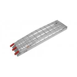 nájezdová rampa MX hliníková skládací úzká, QTECH (1 ks, stříbrná)