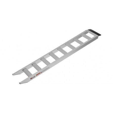 nájezdová rampa hliníková, QTECH (1 ks, stříbrná)