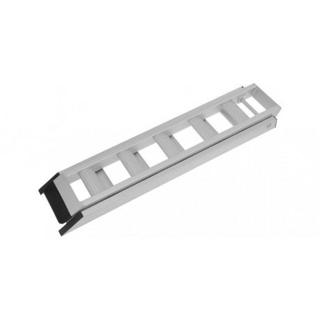 nájezdová rampa hliníková skládací, QTECH (1 ks, stříbrná)