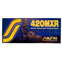 řetěz 420MXR, SUNSTAR - Japonsko (barva zlatá, 108 článků)