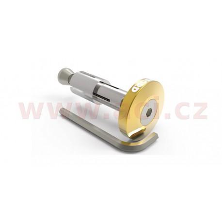 závaží řídítek Bar Ends 2 s konusem pro vnitřní průměr 13 a 18 mm (vnější 22 a 28,6 mm), OXFORD - Anglie (zlaté, pár)