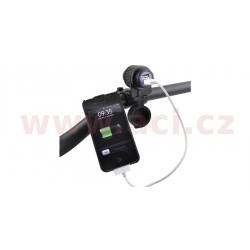 dvojitá USB zásuvka s uchycením na řídítka