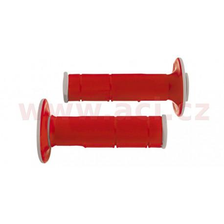 gripy Racing (dvouvrstvé, měkké), RTECH - Itálie (červeno-šedé, pár, délka 116 mm)