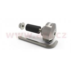 závaží řídítek Bar Ends 1 s redukcí pro vnitřní průměr 13 a 18 mm (vnější 22 a 28,6 mm), OXFORD - Anglie (stříbrné, pár)