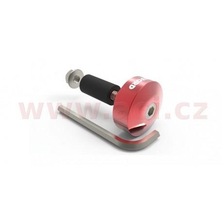 závaží řídítek Bar Ends 1 s redukcí pro vnitřní průměr 13 a 18 mm (vnější 22 a 28,6 mm), OXFORD - Anglie (červený elox, pár)