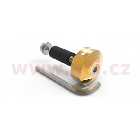 závaží řídítek Bar Ends 1 s redukcí pro vnitřní průměr 13 a 18 mm (vnější 22 a 28,6 mm), OXFORD - Anglie (zlatý elox, pár)