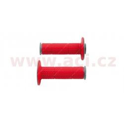 gripy Full Diamond (dvouvrstvé, extra měkké), RTECH - Itálie (červeno-šedé, pár, délka 116 mm)
