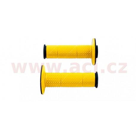 gripy Full Diamond (dvouvrstvé, extra měkké), RTECH - Itálie (žluto-černé, pár, délka 116 mm)