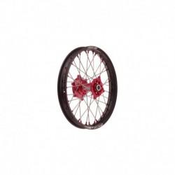 """zadní kolo kompletní (19"""" x 2,15"""") HONDA, QTECH (černý ráfek, červený střed)"""
