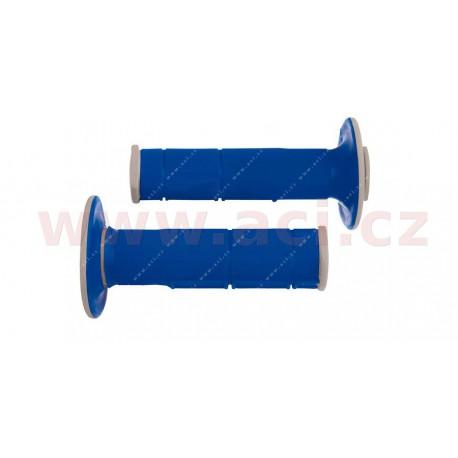 gripy Racing (dvouvrstvé, měkké), RTECH - Itálie (modro-šedé, pár, délka 116 mm)