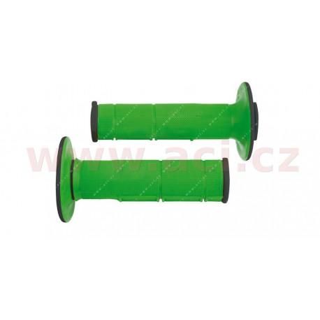 gripy Racing (dvouvrstvé, měkké), RTECH - Itálie (zeleno-černé, pár, délka 116 mm)