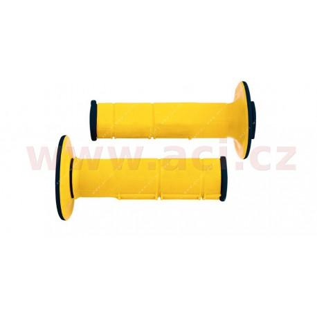 gripy Racing (dvouvrstvé, měkké), RTECH - Itálie (žluto-černé, pár, délka 116 mm)