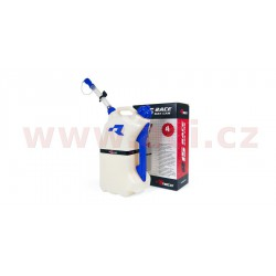 rychlotankovací kanystr R15 (objem 15 litrů), RTECH - Itálie (čirý / modré doplňky)