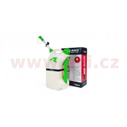 rychlotankovací kanystr R15 (objem 15 litrů), RTECH - Itálie (čirý / zelené doplňky)