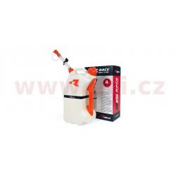 rychlotankovací kanystr R15 (objem 15 litrů), RTECH - Itálie (čirý / oranžové doplňky)