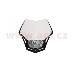 přední maska včetně světla V-Face, RTECH - Itálie (bílo-černá)