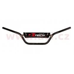 řídítka (ATV) o průměru 22 mm s hrazdou a chráničem, RTECH - Itálie (černá)