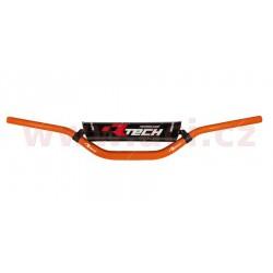 řídítka (David K.) s proměnlivým průřezem o průměru 22 - 28,6 mm s hrazdou a chráničem, RTECH - Itálie (oranžová)