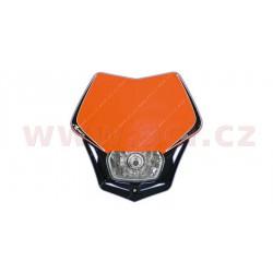 přední maska včetně světla V-Face, RTECH - Itálie (oranžovo-černá)