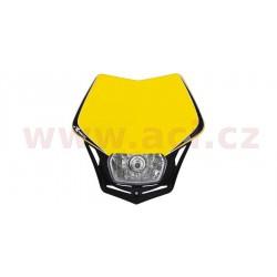 přední maska včetně světla V-Face, RTECH - Itálie (žluto-černá)