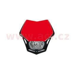 přední maska včetně světla V-Face, RTECH - Itálie (červeno-černá)