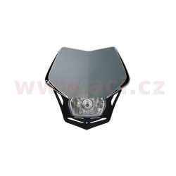 přední maska včetně světla V-Face, RTECH - Itálie (stříbrno-černá)