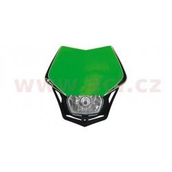 přední maska včetně světla V-Face, RTECH - Itálie (zeleno-černá)