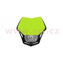 přední maska včetně světla V-Face, RTECH - Itálie (neon žluto-černá)