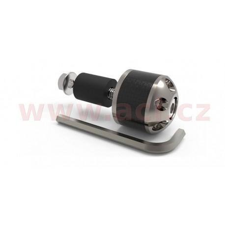 závaží řídítek Carb Ends s redukcí pro vnitřní průměr 18 mm (vnější 28,6 mm), OXFORD - Anglie (stříbrné, pár)