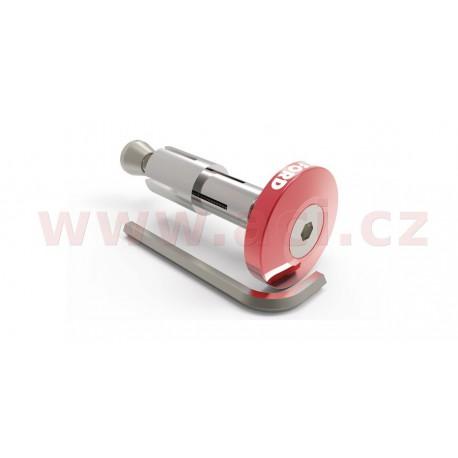závaží řídítek Bar Ends 2 s konusem pro vnitřní průměr 13 a 18 mm (vnější 22 a 28,6 mm), OXFORD - Anglie (červené, pár)