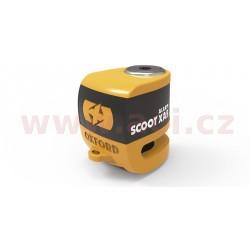 zámek kotoučové brzdy Scoot XA5, OXFORD - Anglie (integrovaný alarm, oranžový/černý, průměr čepu 5,5 mm)