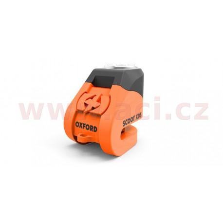 zámek kotoučové brzdy Scoot XD5, OXFORD - Anglie (oranžový/černý, průměr čepu 6 mm)