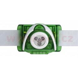 LED LENSER SEO 3 - svítilna s třemi ledkami, čelovka, dosvit 100 m, ZELENÁ, záruka 7 let