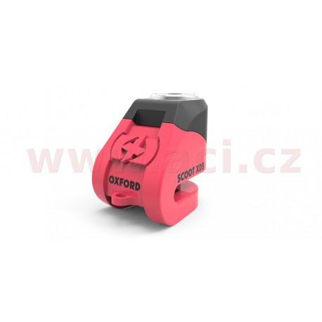 zámek kotoučové brzdy Scoot XD5, OXFORD - Anglie (růžový/černý, průměr čepu 6 mm)